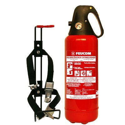 Halterung – Feucom PG 2 L Feuerlöscher Dauerdruck 2 kg Autolöscher inkl. KFZ