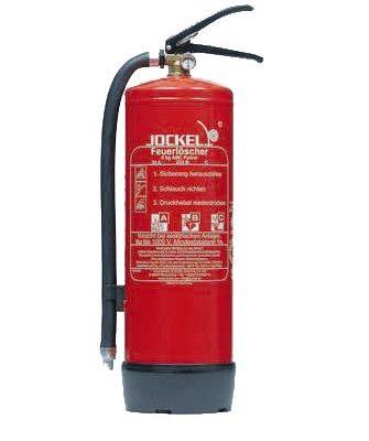 Jockel Feuerloescher P6LJM Standard-Dauerdruck-Feuerloescher, 6 kg ABC-Pulver,