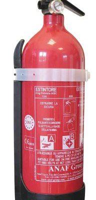 Cora 000126804Pulverfeuerlöscher mit Halterung, 2kg, Klasse 8A 70B–C