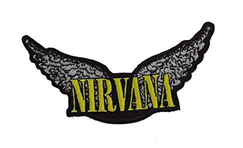 NIRVANA, Wings, Officially Licensed Original Artwork, 4.25″ x 2″ – Iron-On /