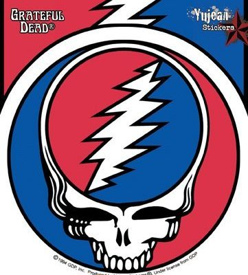 GDP Inc – Weather Resistant, Long Lasting for Any Surface – Steal Your Face 1976 Album Grateful Dead Sticker – 5″ x 5″