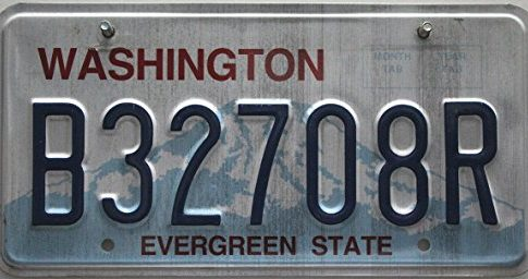 USA Nummernschild WASHINGTON ~ US Kennzeichen nummerplaat kenteken ~ Blechschild
