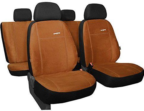 Auto Sitzbezüge, Sitzbezug, Schonbezüge ,Super Qualität, Design Alkantra Comfort . Farbe braun In 8 Farben bei anderen Angeboten erhältlich . Komplett besteht aus: Sitzbezügen + 5 Kopfstützen + Montagehäckchen.
