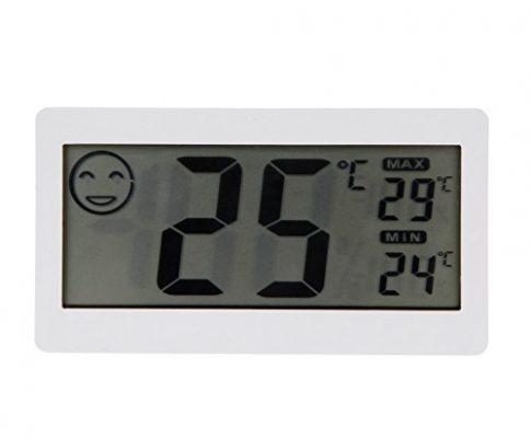 Goliton 3.3″ LCD Mini Digital Innenhaupt Thermometer Hygrometer Temperatur- und Feuchtigkeitsmessgerät – Weiß
