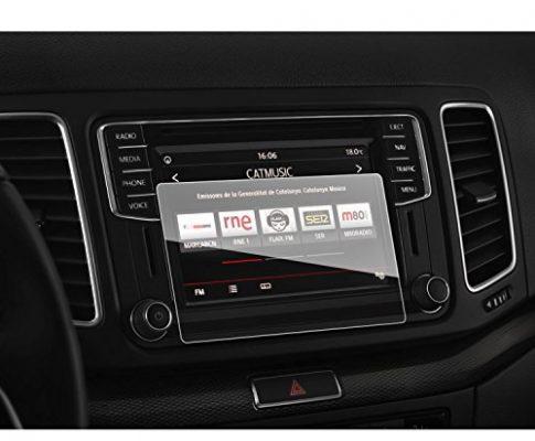 9H Kratzfest Anti-Fingerprint Panzerglas Displayschutzfolie GPS Navi Folie – LFOTPP Seat Alhambra 7N 6,3 Zoll Navigation Schutzfolie