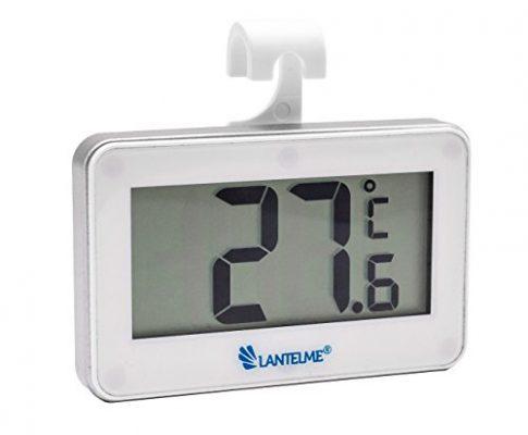 Auto Innen Thermometer Temperaturanzeige -20 bis + 60 °C – Lantelme 5952 Digital Autothermometer Weiss