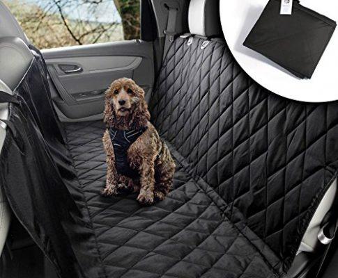 VIIRKUJA Hundedecke Auto   Wasserabweisend, waschbar, Rutschfest und in universal Größe   Rückbank oder Kofferraum   Für große und kleine Hunde auf dem Autositz   Autoschondecke