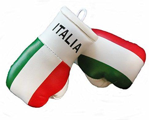 Mini Boxhandschuhe ITALIEN, 1 Paar 2 Stück Miniboxhandschuhe z. B. für Auto-Innenspiegel