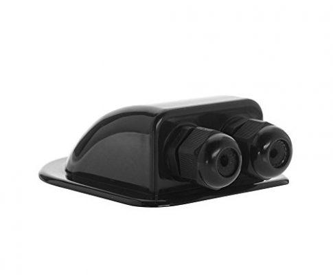 Offgridtec Dachdurchführung 2-fach schwarz für Wohnmobil Caravan Boot Solar Kabeldurchführung ABS, 1 Stück, 006415