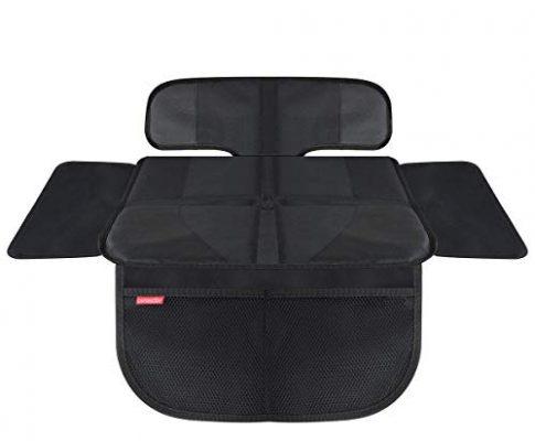 HerzensKind Premium Autositzauflage kurz, der perfekte Schutz für Ihre Autositze, Kindersitzunterlage für Textil- und Ledersitze, ISOfix geeignet