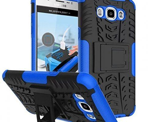 Dooki, Galaxy J7 2016 Hülle, Zerklüftet Kippständer Zäh Hohe Schlag Schwerlast Stoßfest Fallschutz Hybrid 2 in 1 Dual Schicht Hart Silikon Gummi Schützend Tasche Schutzhülle für Samsung Galaxy J7 2016