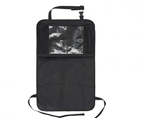 Auto Companion Kick Mats Auto-Rückenlehnentaschen, Auto-Organiser, wasserdichter Rückenlehnenschutz mit 12 Zoll 30,5cm großer Tablet-Halterung