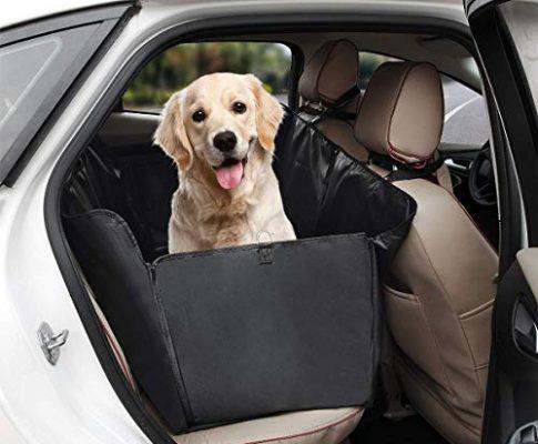 Tech Trader® Hunde-Sitzbezug, für den Rücksitz, schwarz, wasserdicht und Kratzfest, für alle Autos, LKW, SUV