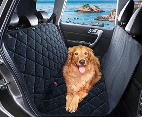 Fypo Autoschondecke Hunde, Hundedecke Auto Kofferraumschutz Kratzfest Rutschfeste Verbreitert Rundumschutz Schondecke für Auto/Van/SUV 166 * 140cm