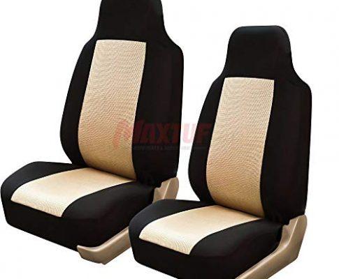 MAXTUF Einzelsitzbezug 2pcs Vordersitzbezug für Autositz mit Seitenairbag Auto Vordere Sitzbezug Autositzbezug Universal Fahrersitz Beifahrersitz Sitzbezug