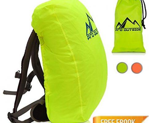 PRO OUTSIDE I Schulranzen Regenschutz und Schulranzen Regenhülle I Gelb