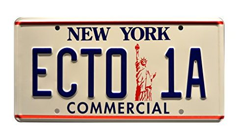 Celebrity Machines Ghostbusters 2 | '59 Cadillac Hearse | ECTO-1A | Metal Stamped Vanity Prop License Plate