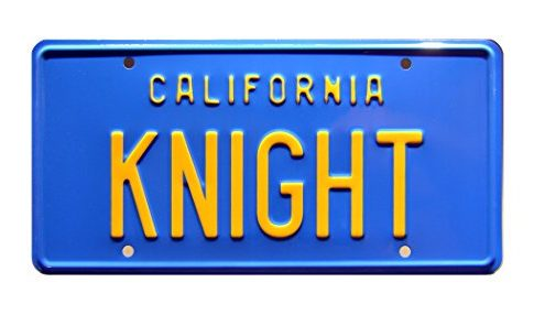 Celebrity Machines Knight Rider | Michael Knight's '82 Trans Am 'KITT' | Knight | Metal Stamped Vanity Prop License Plate