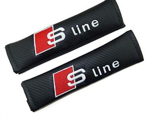 TGH Sicherheitsgurtabdeckung mit Logo S-Line Kohlefasereffekt