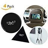 iSkyline Anti-Rutsch-Gel-Pads für GPS, Glas, Whiteboard, Metall, Küchenschränke oder Fliesen, schwarz, transparent, 4 Stück.