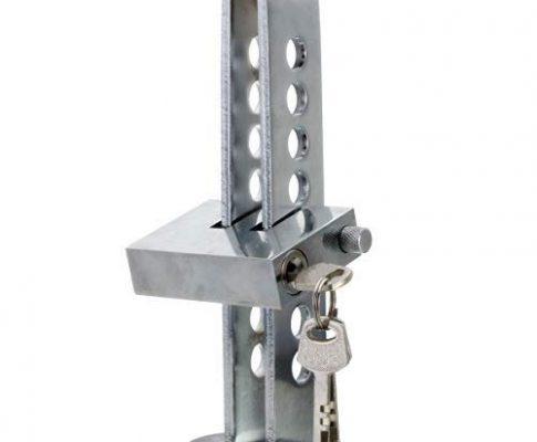 QEUhang Edelstahl 8Löcher Kupplung Lock Auto Bremse Lock Auto Pedal Lock Diebstahlsicherung