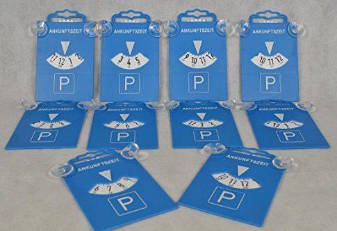 10 Stück Parkscheibe mit Saugnapf aus Kunststoff 84511 Parkscheiben Parken Zeitnachweis