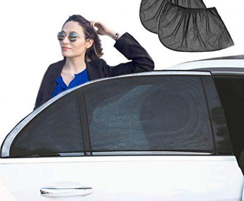Schwarz MEHRWEG – YHmall Auto Sonnenschutz, Universal Sonnenblende 2er Set, Auto-Sonnenschutz UV Schutz für Baby Kinder