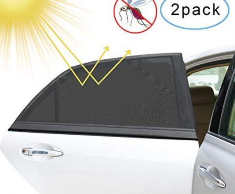 Sonnenschutz Auto2 Stück, Guenx Auto Sonnenschutz Baby, Universal sonnenschutz auto seitenscheibe für Schutz Ihrer Kinder, Baby und Haustiere vor schädlichen UV-Strahlen