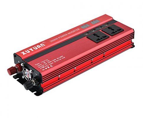 Sunsbell 5000 W Solar Wechselrichter LED DC12/24 V zu AC110/220 V Sinuswelle Konverter Rot