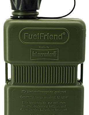 FuelFriend®-Plus 1,0 Liter – Klein-Benzinkanister Mini-Reservekanister – Sonderserie Oliv