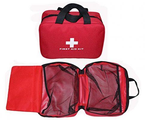 OnePine Erste-Hilfe-Tasche mit Reißverschluss,Wasserdichte kompakte Tasche,Aufbewahrungstasche, Keine Erste-Hilfe-Lieferungen