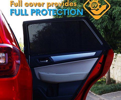 Schützen Sie Ihre Babys und Kinder vor UV-Strahlen um bis zu 98% | Einfache Passform Passend für alle 99% Modelle | 2 Pack + Reise E-BUCH INKLUSIVE – UNIVERSAL FIT CAR SIDE WINDOW SONNENSCHATTEN