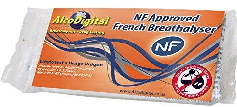 AlcoDigital Französische NF geprüft Single Nutzung Alkoholtest 1 teilige