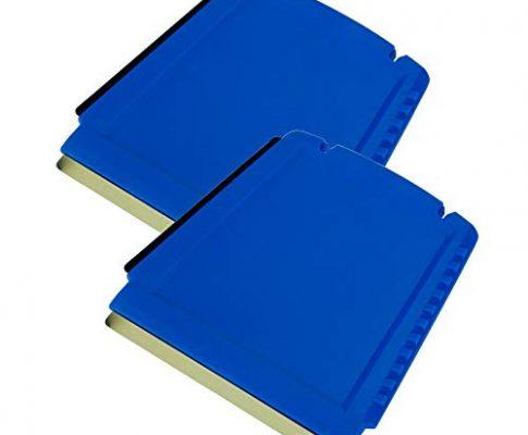 L&P Car Design GmbH LP A052-2 2 Eiskratzer Auto Murska Eisschaber Messing Messingschaber Original aus Finnland Top Qualität 90mm Kleiner praktischer Schaber 3 seitig Verschiedene Schabkanten Blau