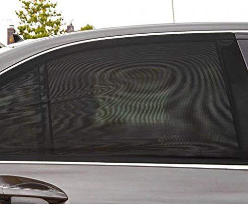 2 Stücke Universal Autofenster Sonnenschutz Atmungsaktives Mesh Sonnenschutz UV Strahlen Schutz Auto Fahrzeug Lkw SUV Heckscheibenvorhang Falten Sonnenblende Net, Schutzfolie Für Baby