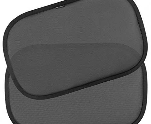 Baby Sonnenschutz für Seitenfenster – Einheitsgröße 2 Stück Schwarz – Kinder Auto-Sonnenschutz, neue und verbesserte Version – Selbsthaftende Sonnenblenden zum Schutz for schädlicher UV-Strahlung