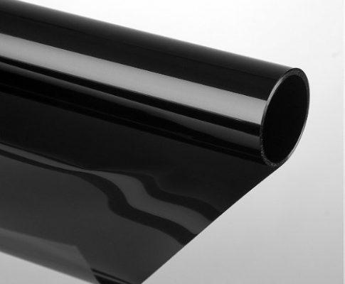 Sonnenschutzfolie  darkblack/schwarz 'Extrem' 85% Selbstklebend Fensterfolie Schutzfolie Tönungsfolie Sonnenschutz für Fenster 75 x 300 cm, darkblack/schwarz