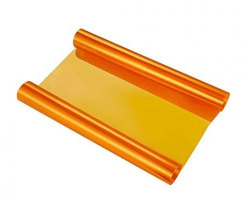 VOYAGO Scheinwerfer-Folie Gelb 30 * 120cm, Wasserdicht Auto Scheinwerfer Folie Tönungsfolie Nebelscheinwerfer Orange