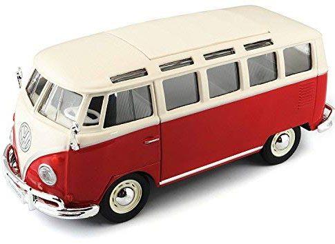 Maisto–Volkswagen Van Samba, rot/weiß 31956W/R