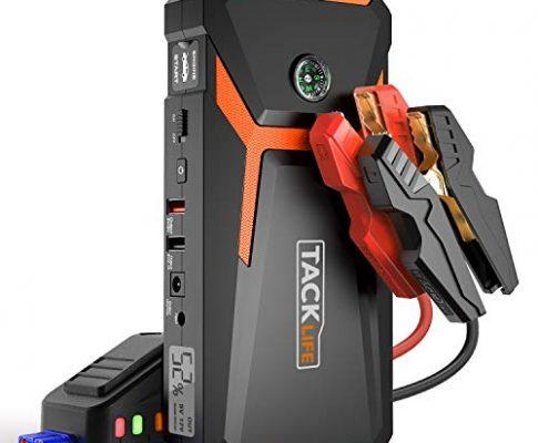 800A Spitze 18000mAh Starthilfe, 12V Auto Starthilfe bis zu 6,5L Benzin, 5,5l Diesel, Jump Starter mit Kompas, LCD Bildschirm – TACKLIFE T8 Starthilfe Powerbank