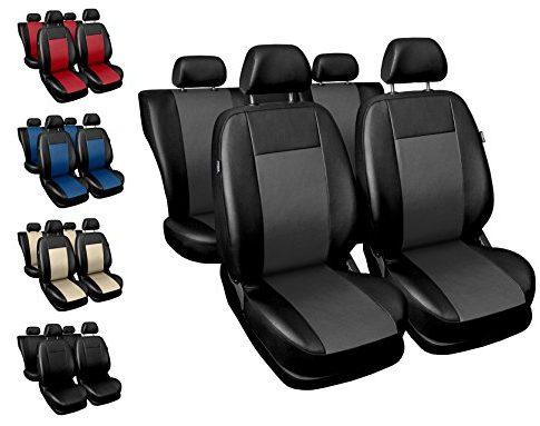 Sitzbezüge Auto universal Set Autositzbezüge Schonbezüge schwarz-grau Vordersitze und Rücksitze mit Airbag System – COMFORT