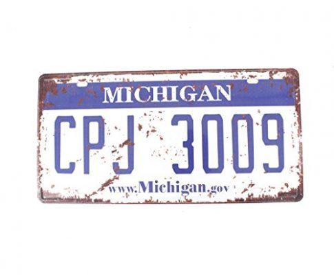 Eureya mighigan CPJ 3009Auto Nummernschild Auto Tag Home/Cafe Bar/Pub/Restaurant/Ausstellung Wand Decor Vintage Plaque 15,2x 30,5cm