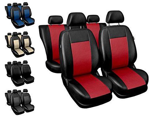 Sitzbezüge Auto universal Set Autositzbezüge Schonbezüge schwarz-rot Vordersitze und Rücksitze mit Airbag System – COMFORT