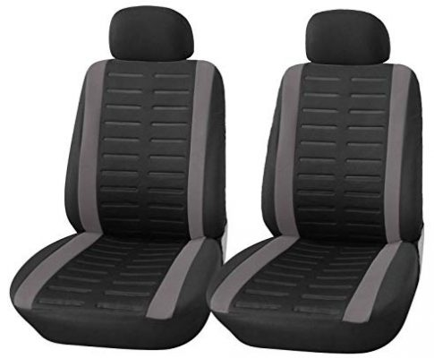 Upgrade4cars Auto-Sitzbezüge Vordersitze Schwarz Grau   Auto-Schonbezüge Set Universal mit Seitenairbag Öffnung   Auto-Zubehör Innenraum