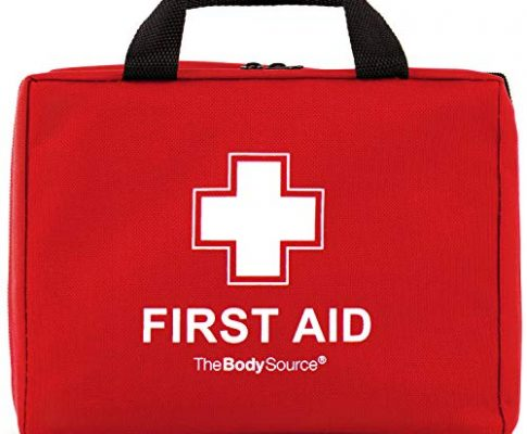 220-teiliges Premium Erste-Hilfe-Set – enthält Sofort Kühlpacks,CPR Maske, Augenspülung, Rettungsdecke für zu Hause, Büro oder Auto | Rot
