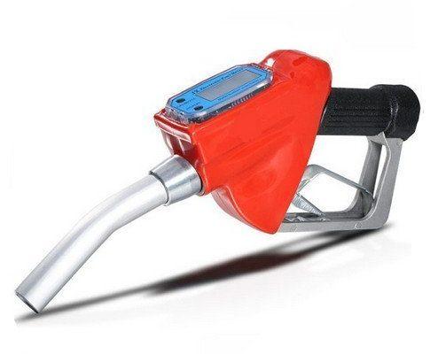 Nuzamas Druchflussmessgerät, Pistolendesign, 2,5 cm, für Kraftstoffzufuhr, Benzin, Diesel, Düse