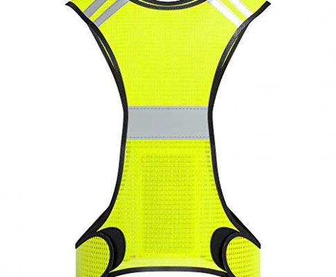 EAZY CASE Reflektorweste, Sicherheitsweste, flexibel einstellbar I Warnweste mit Reflektoren, atmungsaktiv I reflektierende Weste, ideal zur Erhöhung der Sichtbarkeit im Straßenverkehr, Neon Gelb
