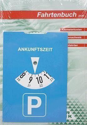 RNK 3120/2 2 Fahrtenbücher für PKW, DIN A5 mit 1 Parkscheibe