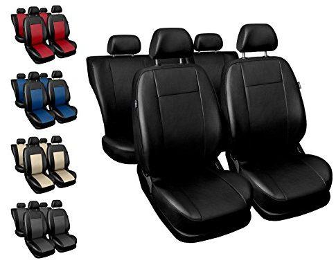 COMFORT – Sitzbezüge Auto universal Set Autositzbezüge Schonbezüge schwarz Vordersitze und Rücksitze mit Airbag System