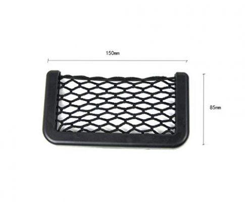 axuanyasi Car Trunk Storage Net, 2 Pack 15 cm/5.70in X 8 cm/3.14in Black Magic selbstklebend Ablagenetz Elastic String Netz Mesh-Tasche für Handy Geldbörse Schlüssel Kleine Dinge